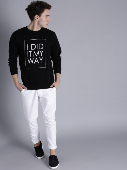 Alphanumeric Print Sweatshirt