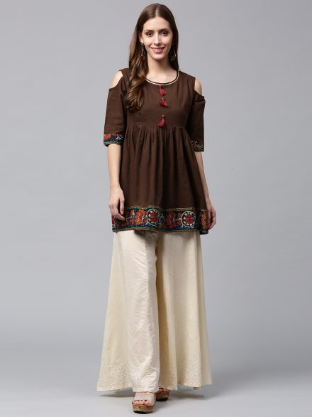 Cold Shoulder Fancy Kurti
