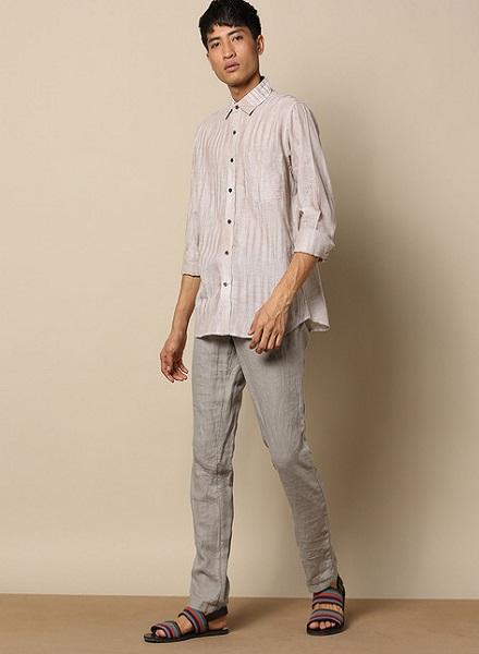 Striped Casual Cotton Shirt