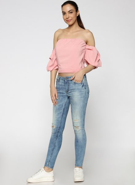 Off-Shoulder Crop Top