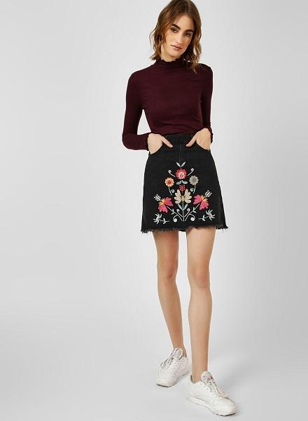 Pencil Fit Mini Skirt