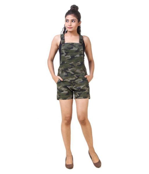 Camo Dungaree Shorts