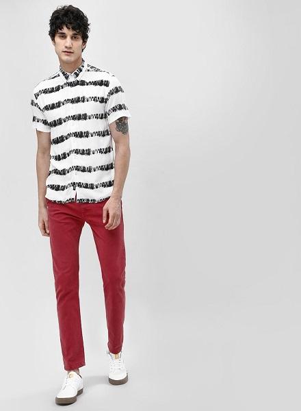 Tie Dye Striped Shirt