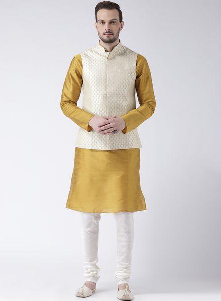 Banarasi Kurta With Brocade Silk Jacket