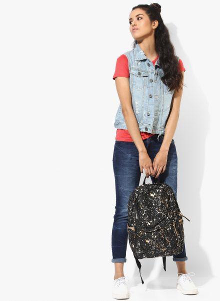 Sleeveless Denim Jacket with Jeans