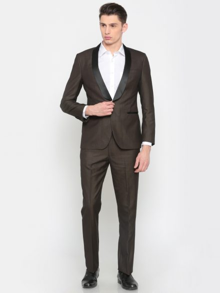 Peter England Charcoal Grey Suit
