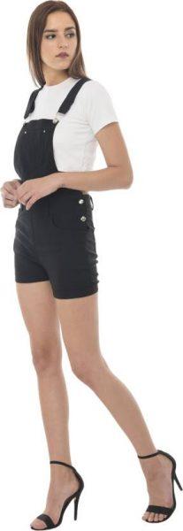 Classic Black Dungaree Shorts