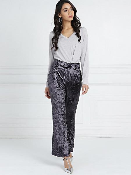 Velvet Flared Trousers