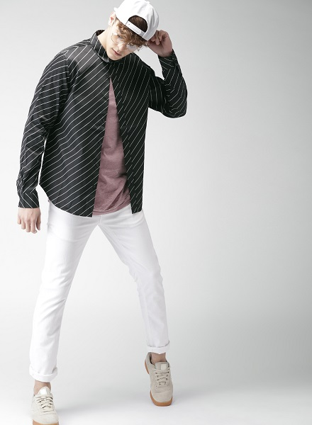 Regular Fit Striped Casual Shirt