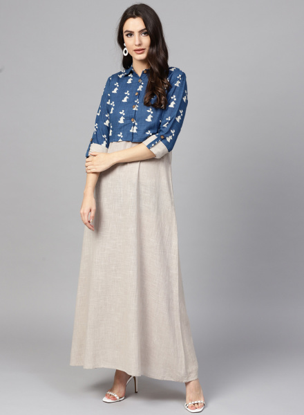 Printed Jacket dress