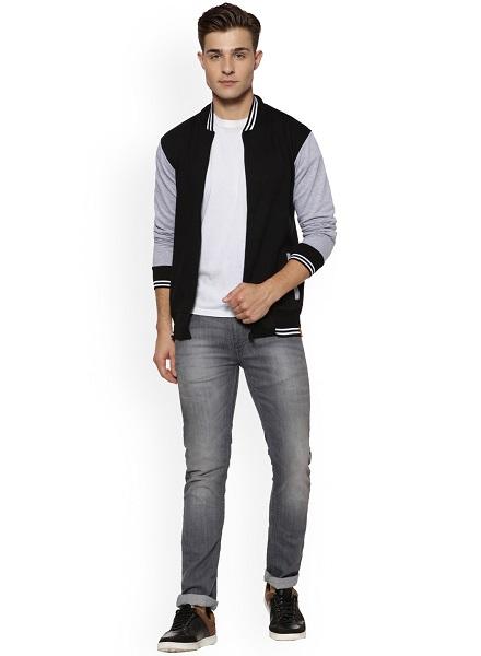 Cotton Colourblocked Bomber Jacket