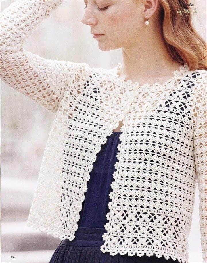 Crochet Shrug Design
