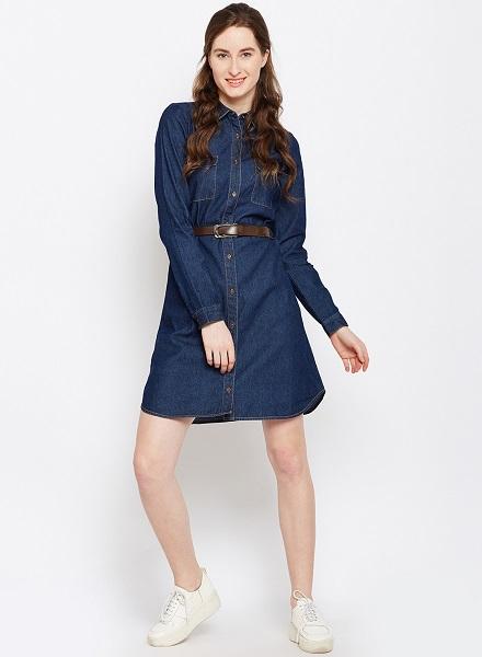 Denim dress1