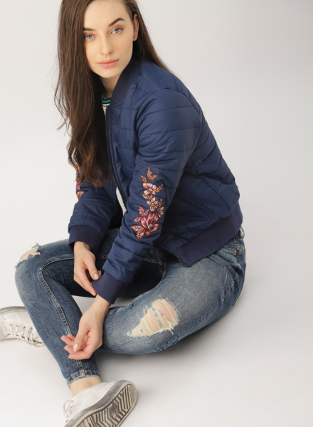 Embroidered Puffer Jacket