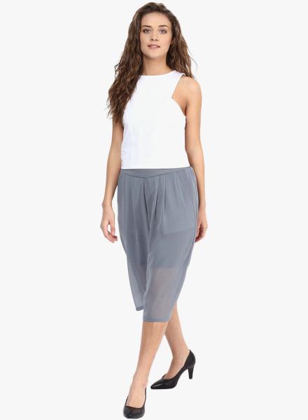 Grey Skirt Capri