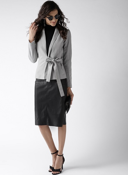 Grey and White Blazer