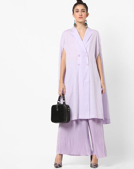 Long Lavender Jacket dress
