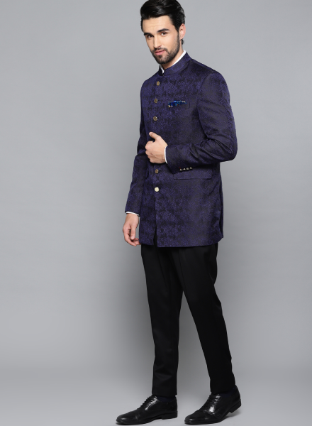 Blue Bandhgala Louis Philippe Suit