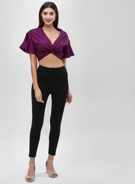 ront Knotted Plum Top