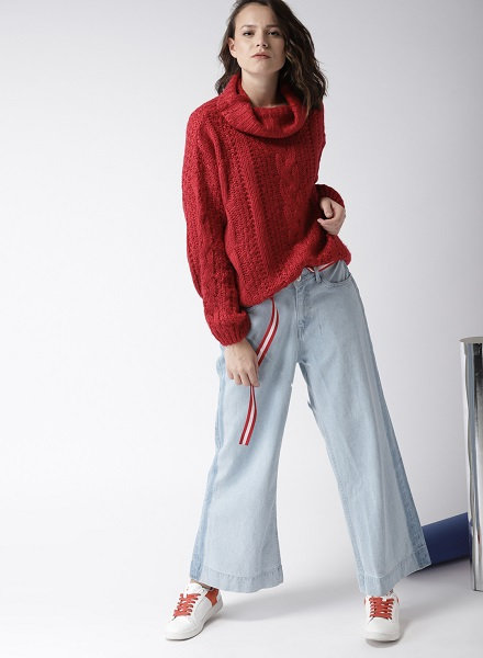 Oversized Pullovers With Palazzos
