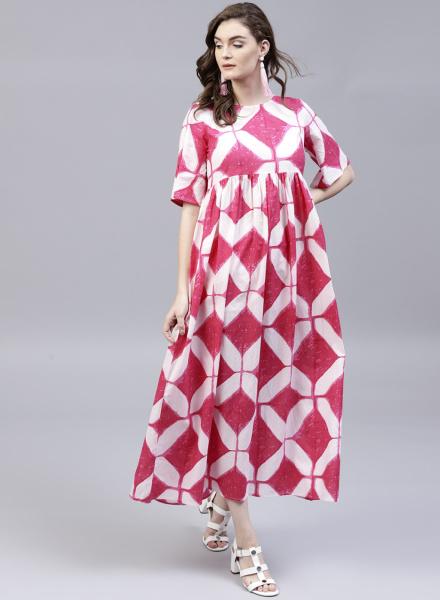 Pink skirt dress