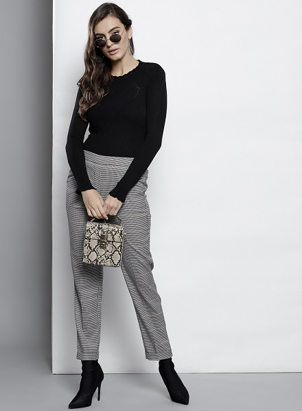Knitted Pullover With Flannel Pants