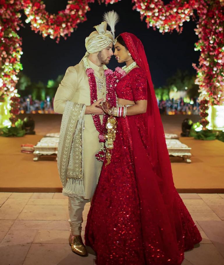 Priyanka Chopra and Nick Jonas Indian Wedding Dress