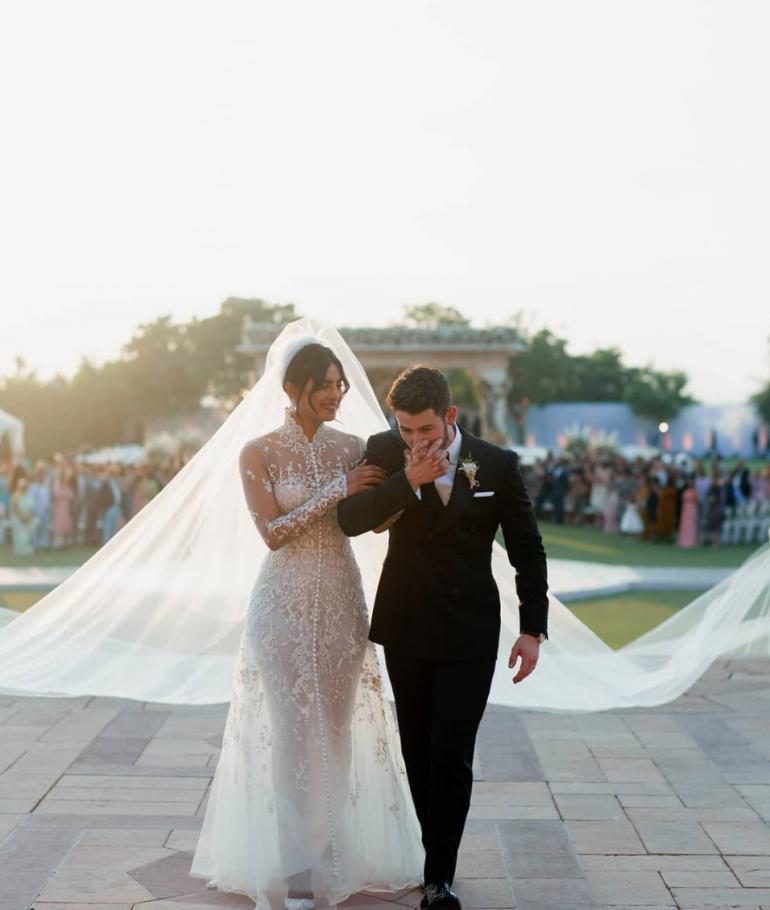 Priyanka Chopra and Nick Jonas Christian Wedding Dress