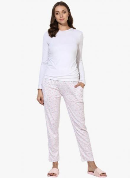 White Printed Pyjama