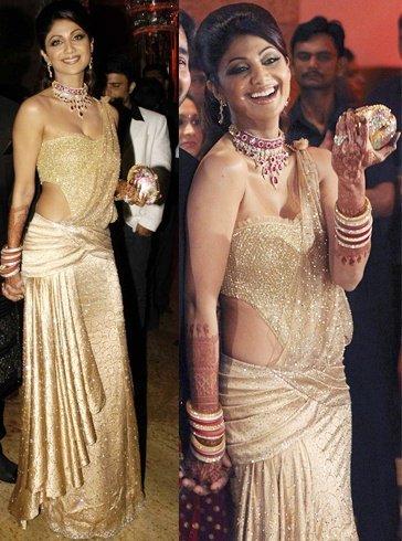 Shilpa Shetty in Saree Gown