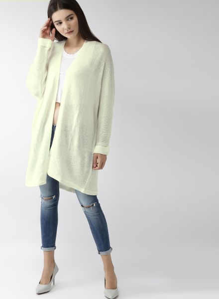 Front-Open Long Sweater