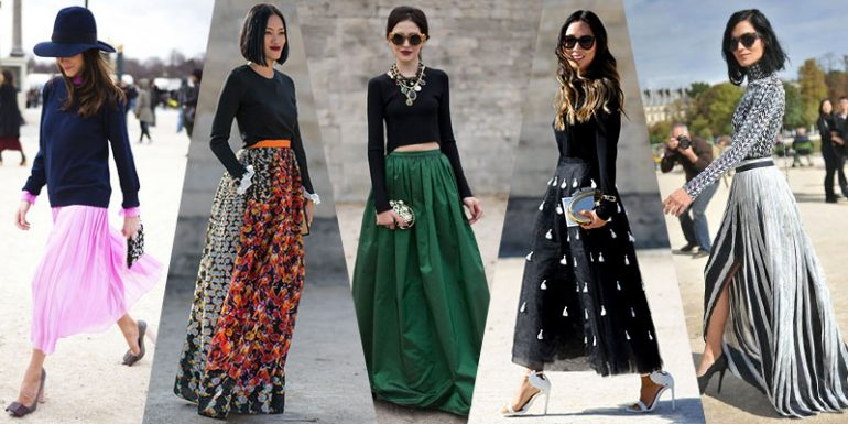 Top 10 Ways To Style Long Skirts