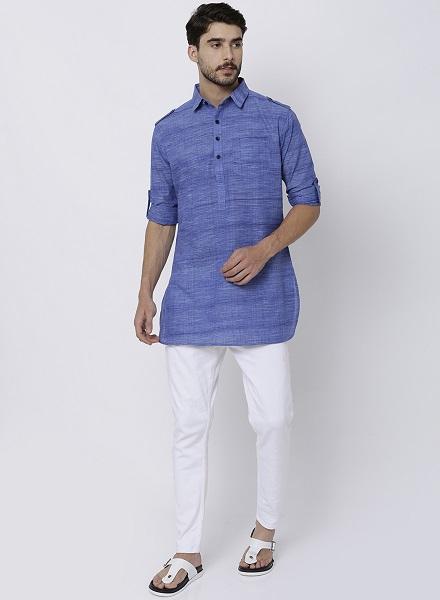 woven design cotton pathani kurta