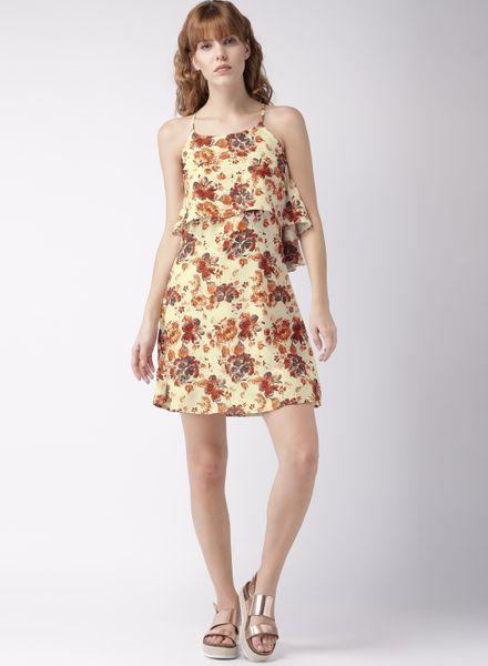 Floral Printed Skater Dress