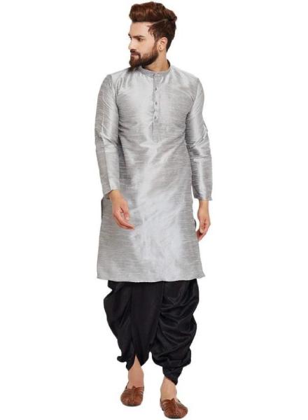 Grey And Black Dhoti Kurta Style
