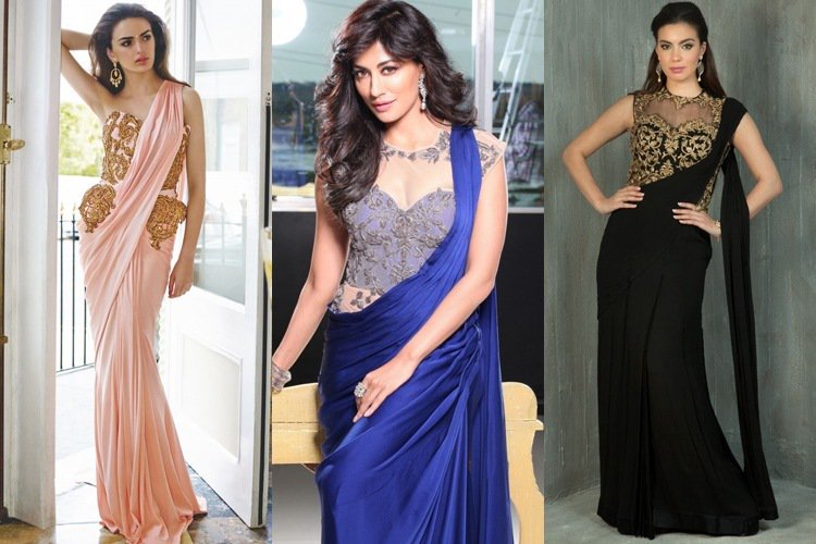 Get a Trendy Makeover with Saree Gowns