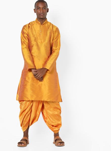 Single Colour Combination Dhoti Kurta Style