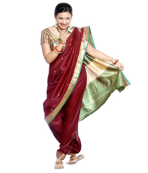 How to wear saree - Marathi Nauvari Style Step by Step
