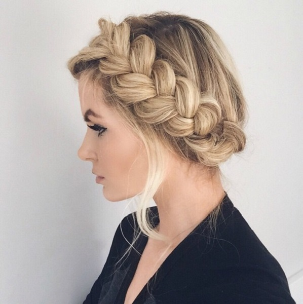 Crown Braid Hairstyle For Women