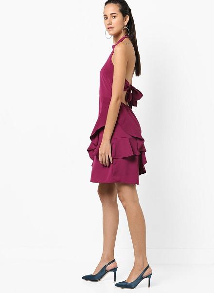 ruffled hemline dress