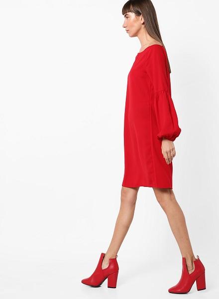 Off-Shoulder Casual Midi Dress