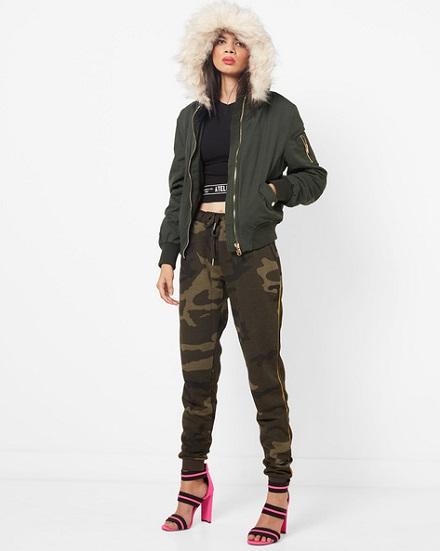 Faux Fur Hood Jacket