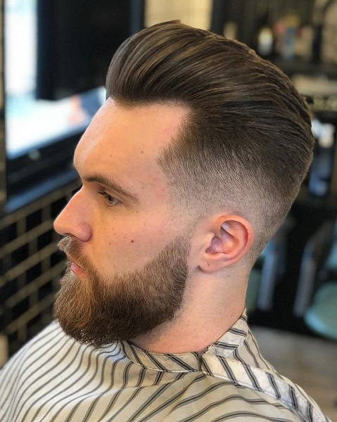 Slicked Back Hairstyle For Men