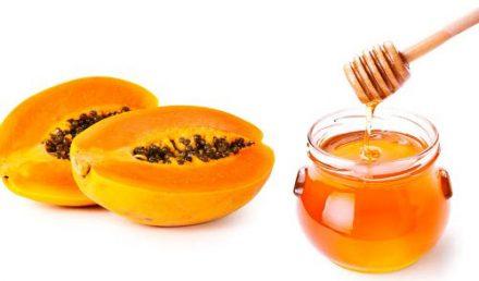 Apply Honey And Papaya Pack