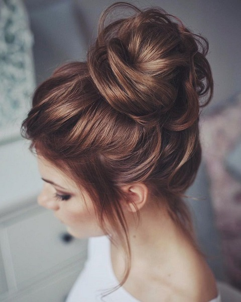 Messy High BunHairstyle For Women