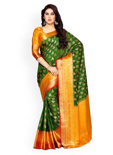 Kanjeevaram Green Saree