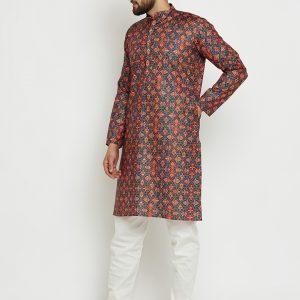 Printed Kurta Pajama Design for Men