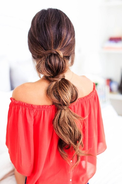 Bubbled Pony Hairstyle For Women