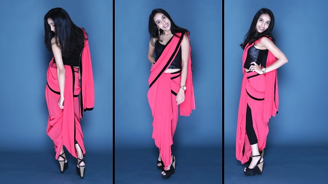 How to wear saree - Dhoti Style Step by Step