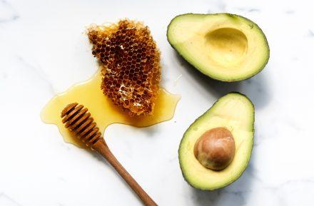 Apply Avocado, Honey And Sugar Mask